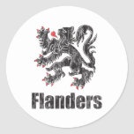 Vintage Flandes Etiqueta Redonda