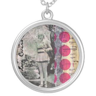 Vintage Flapper Art Necklaces