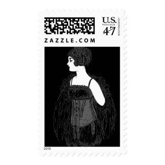 Vintage Flapper Corset Postage