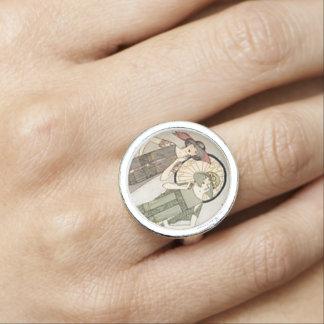 Vintage Flapper Fashion Retro Ring