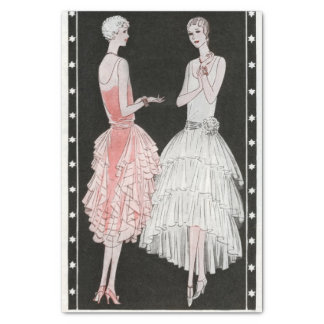 Vintage Flapper Fashion Tissue Paper