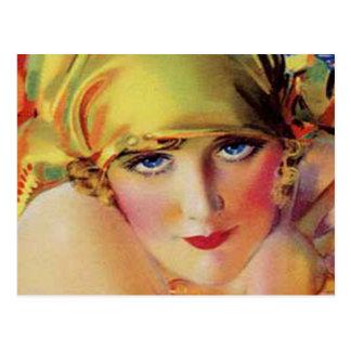 Vintage Flapper Girl Postcard