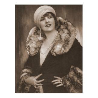 Vintage Flapper Photograph (92) Postcard