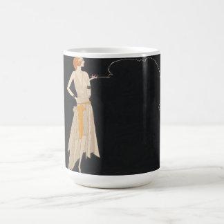 Vintage Flapper Woman Illustration Mug
