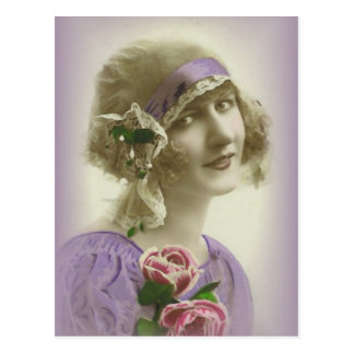 vintage flappers (407) post card