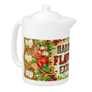 Vintage Flavoring Ad 1853 Teapot