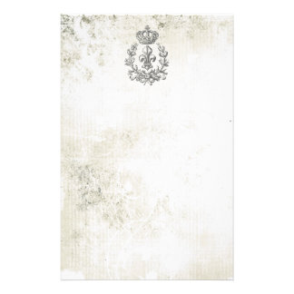 Vintage Fleur de Lis and Crown-notepad Stationery Paper