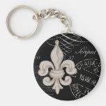 Vintage Fleur de Lis...keychain