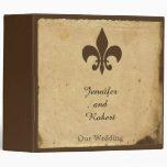 Vintage Fleur de Lis Love Letter Wedding Binder