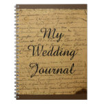 Vintage Fleur De Lis Love Letter Wedding Journal
