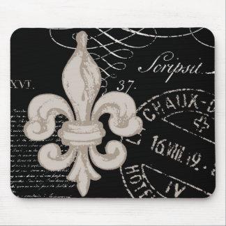 Vintage Fleur de Lis...mouse pad
