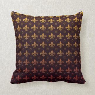 Vintage Fleur de Lis Pattern Throw Pillow