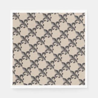 Vintage Fleur de Lis Print Napkins