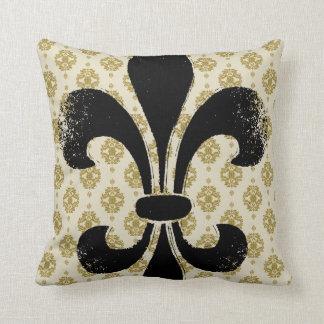 Vintage Fleur de lis Throw Pillow