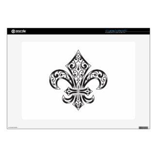 Vintage Fleur de Lis w/ Scrolls in Heraldry Style Skin For Laptop