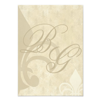 Vintage Fleur De Lis Wedding Invitations