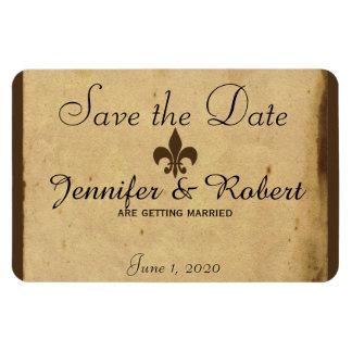 Vintage Fleur De Lis Wedding Save the Date Magnet