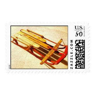 Vintage Flexible Flyer III Wooden Sled Stamps