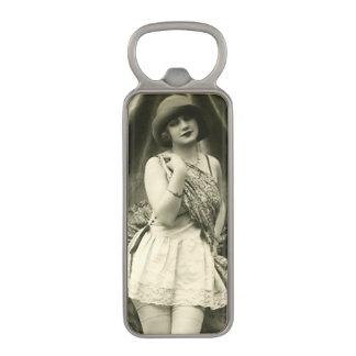 Vintage Flirty Girl Magnetic Bottle Opener