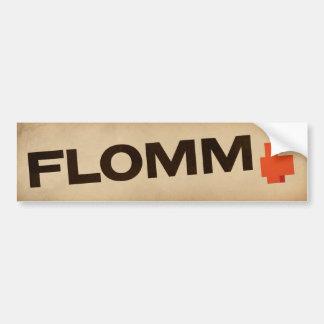 vintage FLOMM positavo Bumper Sticker