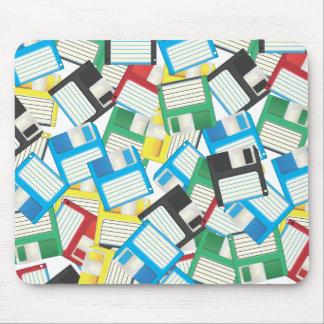Vintage Floppy disks Mouse Pad