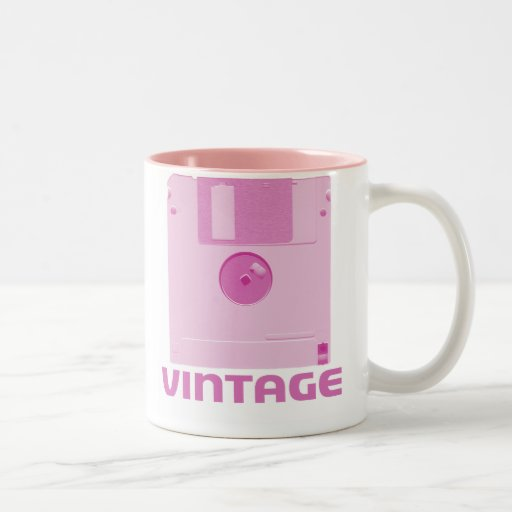 Vintage Floppy Pink Mug