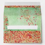 Vintage, flor de cerezo, rústica, grunge, de moda, sobres