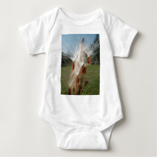 Vintage Flora and Fauna Milkweeds Floating.jpg Baby Bodysuit