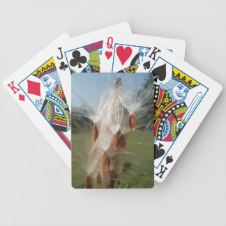 Vintage Flora and Fauna Milkweeds Floating.jpg Bicycle Playing Cards