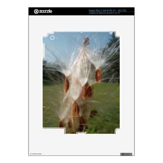 Vintage Flora and Fauna Milkweeds Floating.jpg Skin For iPad 3