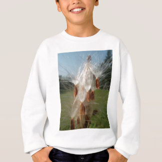 Vintage Flora and Fauna Milkweeds Floating.jpg Sweatshirt