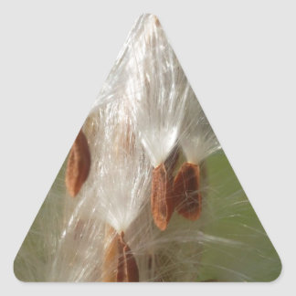 Vintage Flora and Fauna Milkweeds Floating.jpg Triangle Sticker