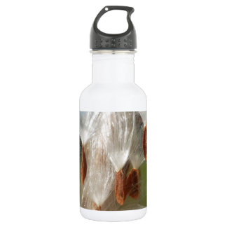 Vintage Flora and Fauna Milkweeds Floating.jpg Water Bottle