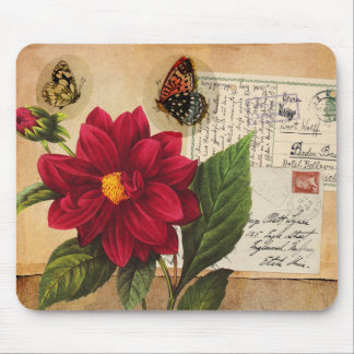Vintage Flora and Fauna Mousepad