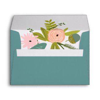 Vintage Flora and Fauna Wedding Envelopes