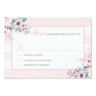 """Vintage Flora RSVP Cards 3.5"""" X 5"""" Invitation Card"""