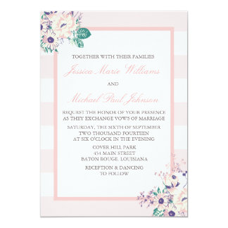 Vintage Flora Wedding Invitations