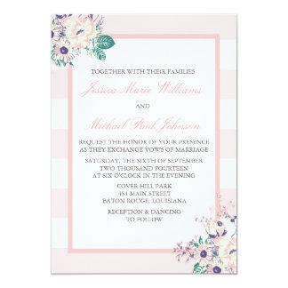"""Vintage Flora Wedding Invitations 5"""" X 7"""" Invitation Card"""