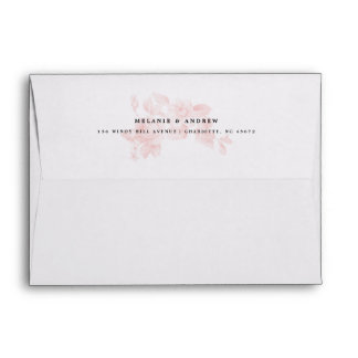 Vintage floral A7 envelope and liner