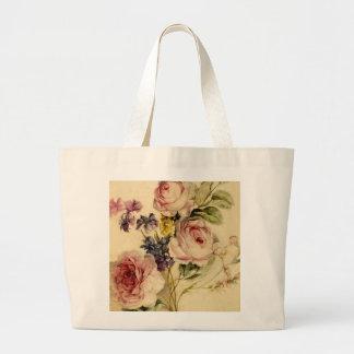 Vintage floral a partir de siglo XVIII Bolsa