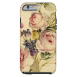 Vintage floral a partir de siglo XVIII Funda De iPhone 6 Tough
