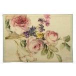 Vintage floral a partir de siglo XVIII Manteles Individuales