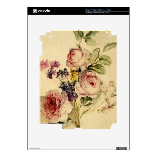 Vintage floral a partir de siglo XVIII Skins Para iPad 2