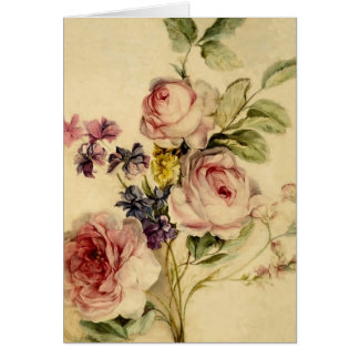 Vintage floral a partir de siglo XVIII Tarjetas