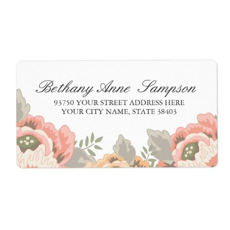 Vintage Floral Address Labels