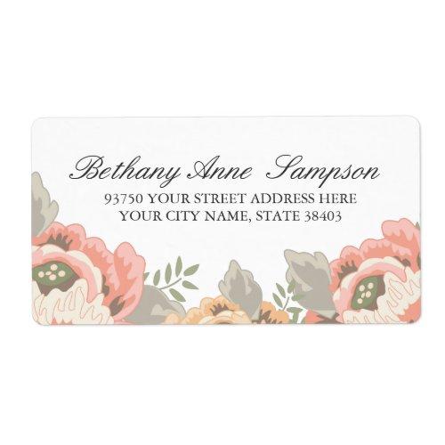 Vintage Floral Address Labels