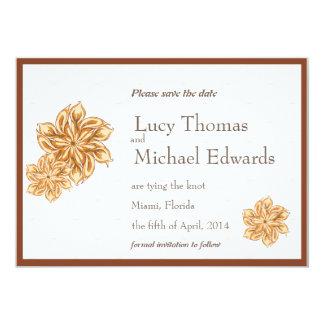 """Vintage floral - ahorre la tarjeta de fecha invitación 5"""" x 7"""""""