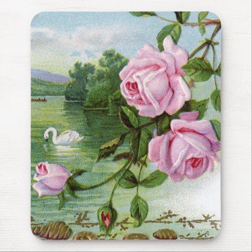 Vintage floral alfombrillas de ratones