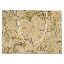Vintage Floral Alphonse Mucha Peonies GalleryHD Large Gift Bag