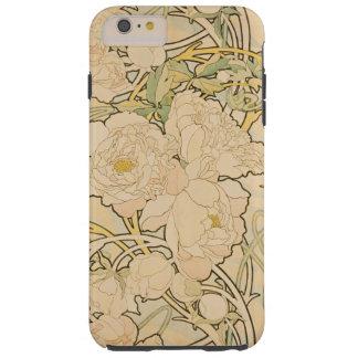Vintage Floral Alphonse Mucha Peonies GalleryHD Tough iPhone 6 Plus Case